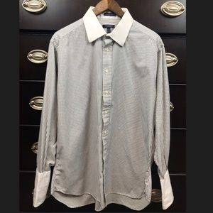 Burberry London Mens Button Down French Cuff Shirt